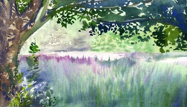 Quiet Field Of Lupines Art | Machalarts Watercolor Studio
