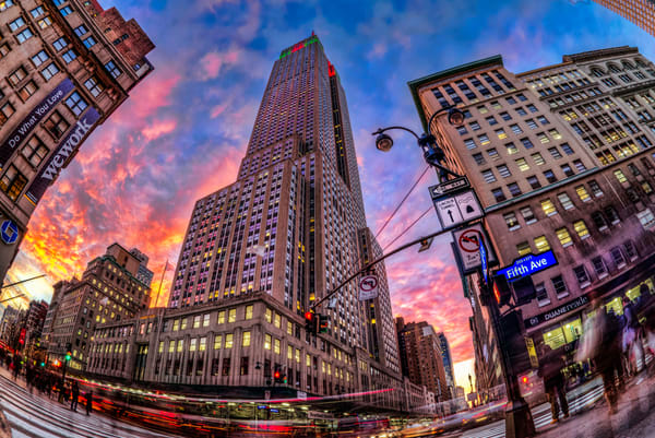 Empire State Building at Sunset by photographer F.M. Kearney