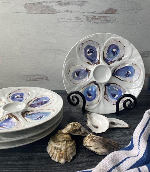 Porcelain Oyster Plate Art | Kristine Kainer