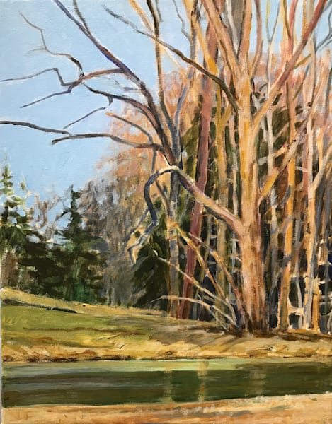 Corner By The Pond Art | Mid-AtlanticArtists.com