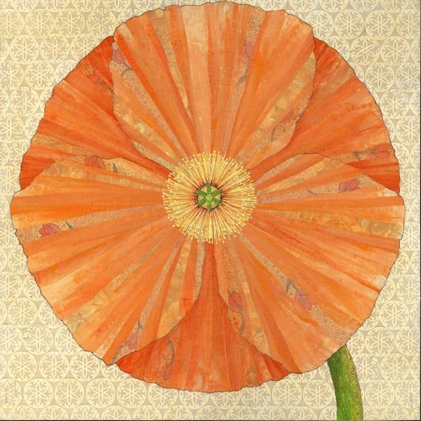 California Poppy  Art | Karen Sikie Paper Mosaic Studio