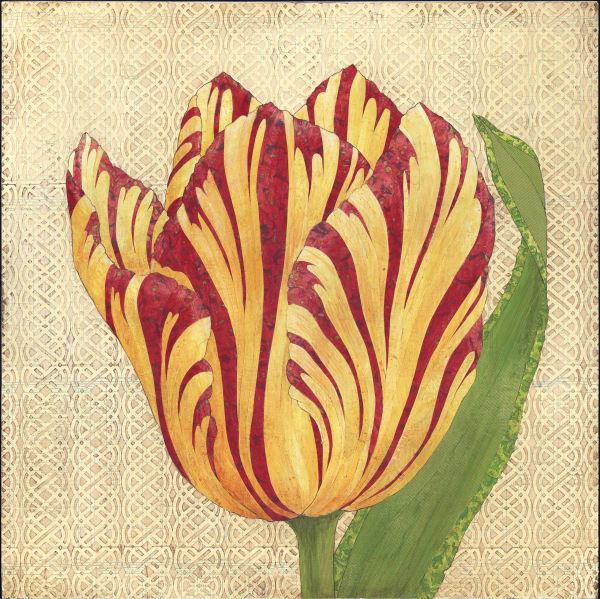 Fire Tulip  Art | Karen Sikie Paper Mosaic Studio