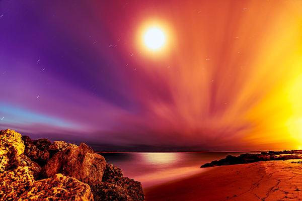 Pastel Moon Rise