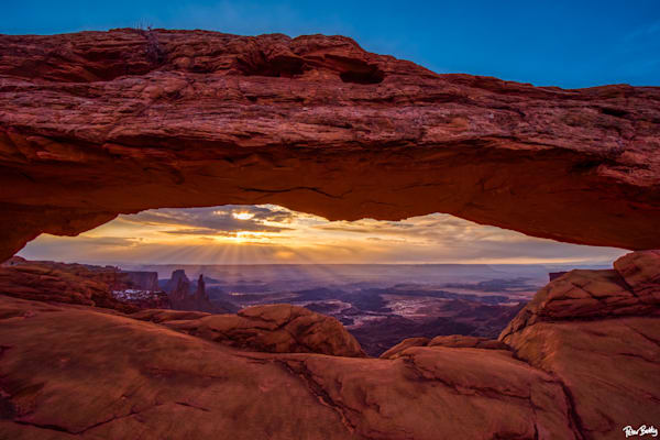 Mesa Arch With Sun Rays Photography Art | Peter Batty Photography