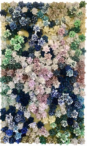 Garden Bonanza   Monet Topography 1 Art | Lauren Naomi Fine Art