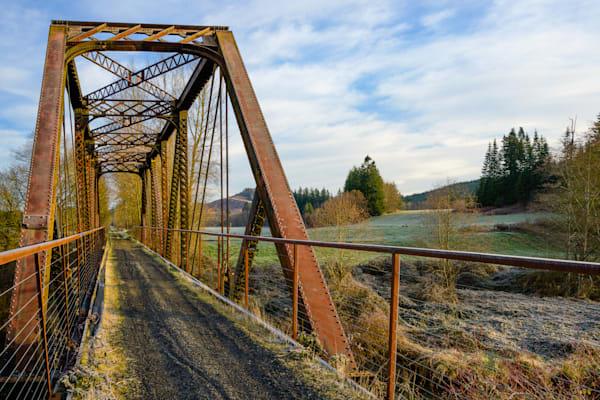 Steel Railroad Bridge, Willapa Hills State Park Trail, Washington, 2021