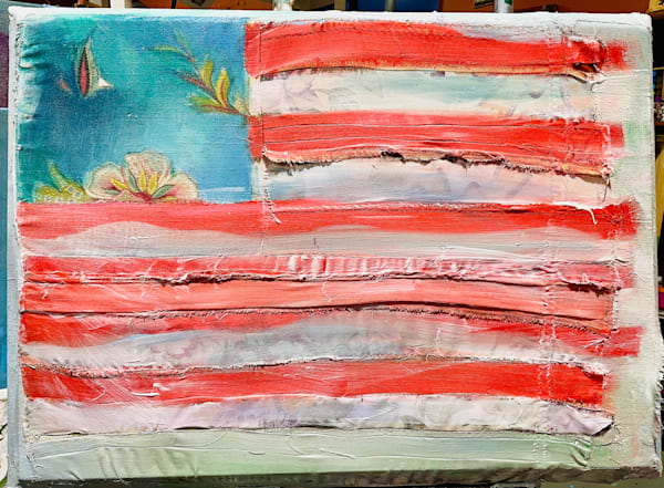 Eagle Flag Flying Art | Polly Alice Design