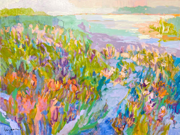 Gorgeous Coastal Landscape Oil Painting by Dorothy Fagan