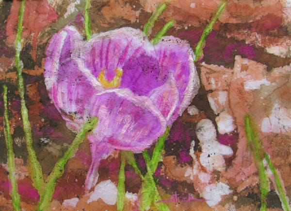 Purple Crocus Art | Strickly Art