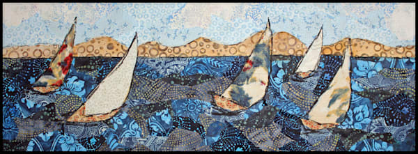 Sailing Away is a textile mosaic by Tesser Designs.