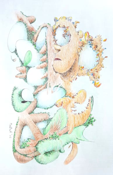 Fecundity - Original Ink and Colored Pencil Drawing on Paper