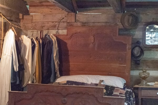 Pioneer Bedroom With No Closet.   Photography Art | Great Wildlife Photos, LLC