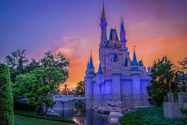 Cinderella's Castle Sunset 3 Photography Art | William Drew Photography