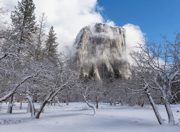 Yosemite Winter El Capitan Art | Michael Blanchard Inspirational Photography - Crossroads Gallery