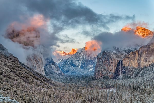 Yosemite Valley Fire Sunset Art | Michael Blanchard Inspirational Photography - Crossroads Gallery