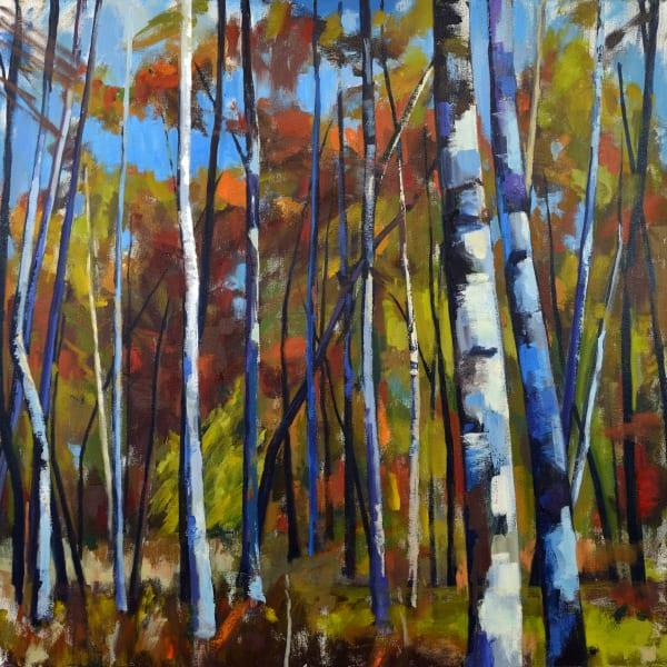 Early Autumn Birch Print Art | Jenn Hallgren Artist