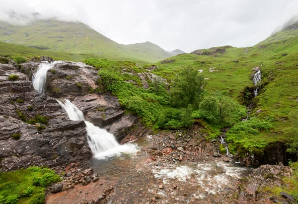 Scotland Rain Waterfall 0841 Photography Art | Jeff Rogers Photography, Inc.