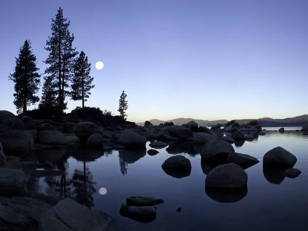 Sand Harbor Moon Photography Art | Jeff Rogers Photography, Inc.
