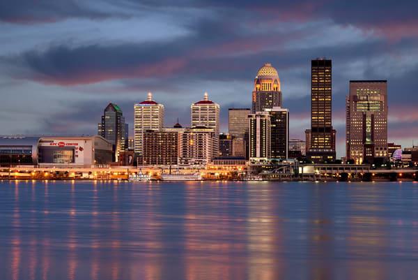Louisville Skyline at Night 4113