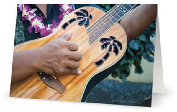 Tropical Guitar 5x7 Card | Bird In Paradise