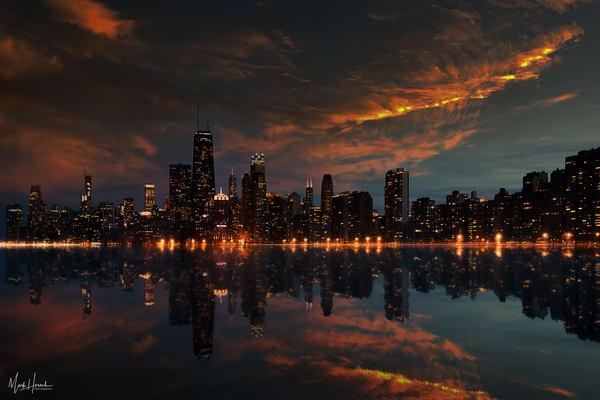 Chicago Skyline From North Avenue Beach Art | Mark Hersch Photography