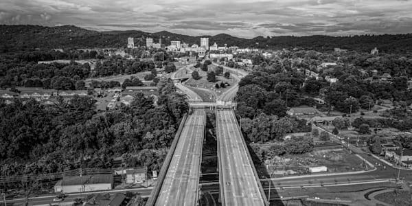 Drone Photo of Asheville North Carolina