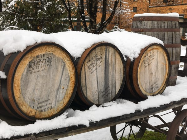 Bourbon Buffalo Trace Snow 1449 Photography Art | Jeff Rogers Photography, Inc.