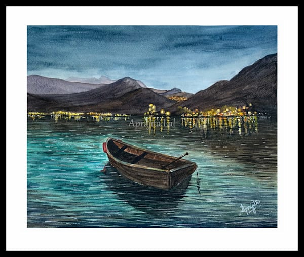 "Dusk"" in Watercolors by Aprajita Lal"
