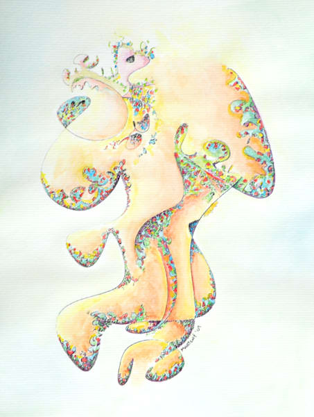 Gold Bejeweled Fertility Goddess - Prints