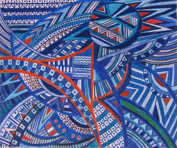 Blue Tapestry Design Art | lencicio