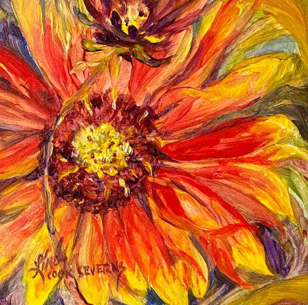 Lindy Cook Severns Art | Firewheel, original oil