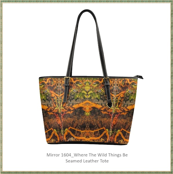 Mirror 1604 Seamed Leather Tote