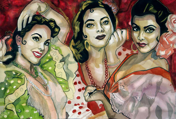 Las Tres Amigas Art | William K. Stidham - heART Art