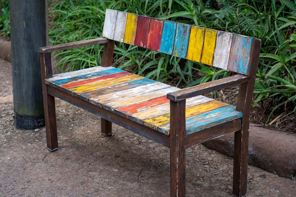 Painted Bench - Disney Framed Artwork | William Drew Photography