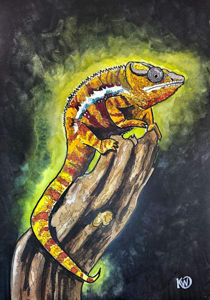 Panther Chameleon 04 Original Art | Water+Ink Studios