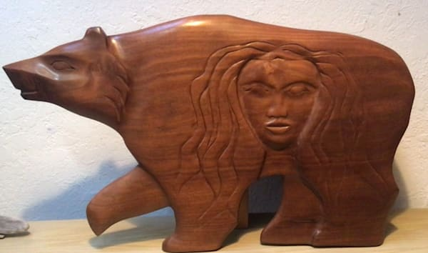 Bear Woman Wall Carving | treshamgregg - spiritart