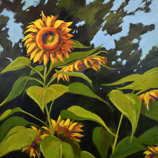 Large Sunflowers Art | Jenn Hallgren Artist