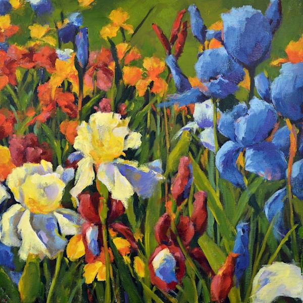 Iris Garden Xii Art | Jenn Hallgren Artist