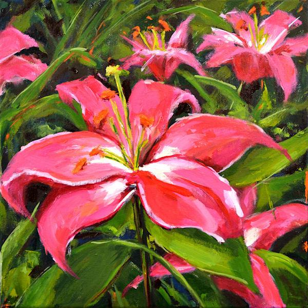 Pink Lilies  Art | Jenn Hallgren Artist
