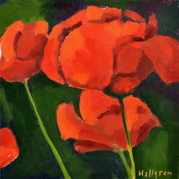 Poppy Mini Art   Jenn Hallgren Artist