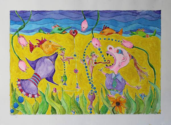 Fantasy Watercolor Originals