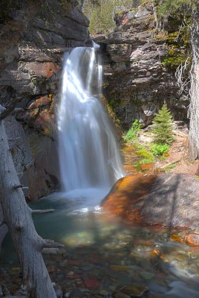 Baring Falls In Glacier Nationall Park Photography Art | RAndrews Photos
