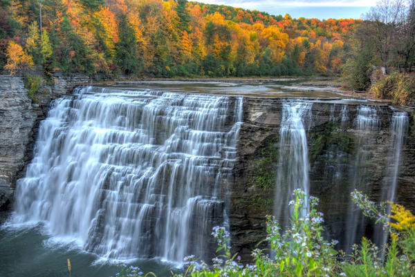 Middle Falls In Letchworth State Park Photography Art | RAndrews Photos