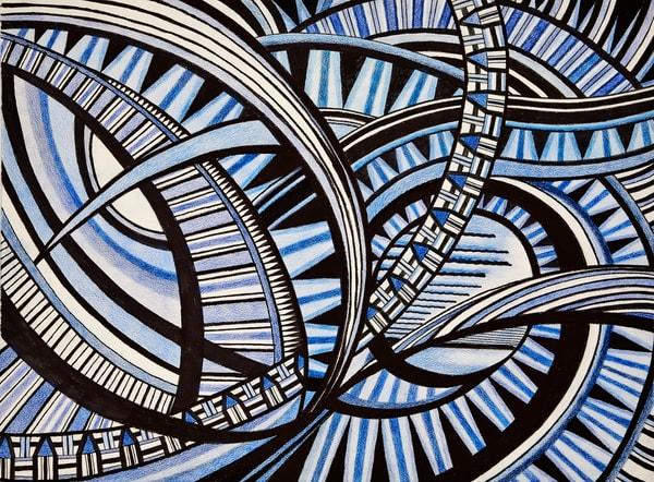 The Blue Eyes  Of The Celestial Storm Art | lencicio