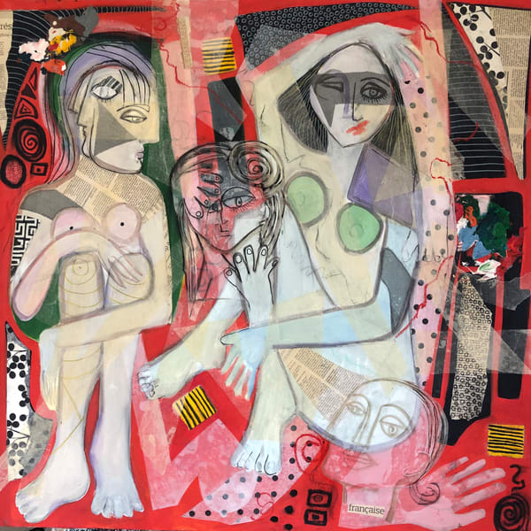 De Veuve Alexis Spa Day Mixed Media And Collage 36 X 36 Art   MardisArt