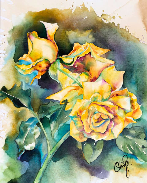 Yellow Roses Original Artwork
