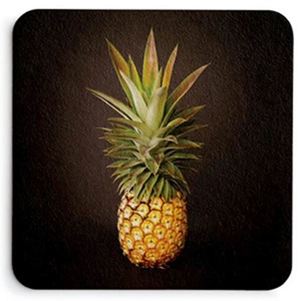 White Pineapple King Coaster Set | Bird In Paradise