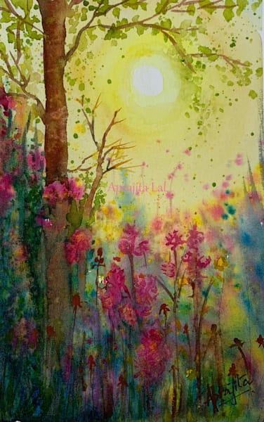 """Arrival of Spring"" in Watercolors by Aprajita Lal"