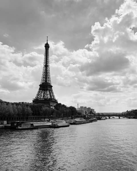 Eiffel Tower (Black & White) Photography Art | Jordan-Lee Garbutt