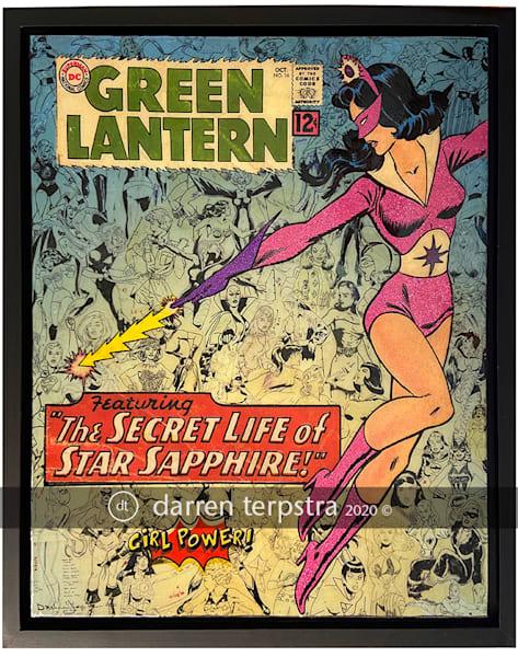 Star Sapphire: Girl Power Series Art   Darren Terpstra Artist